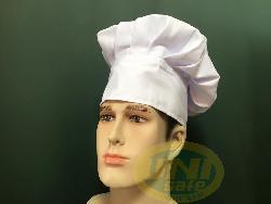 Mũ bếp vải kaki trắng Mv013
