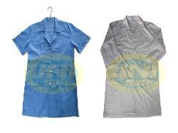 Áo blu nam, nữ vải lon Nhật trắng, xanh A003nd