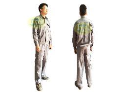 Quần áo bảo hộ vải kaki cotton dày mầu ghi chì - Qa004