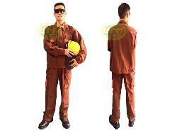 Quần áo bảo hộ vải cotton dầy pha mầu Qa006b