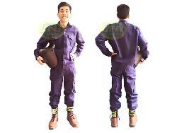 Quần áo bảo hộ vải bạt chống cháy Qa013