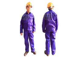 Quần áo bảo hộ lao động vải chéo xanh Qa001