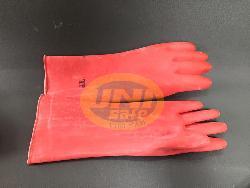 Găng tay chống axit 3ly đỏ loại ngắn G004