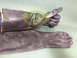 Găng tay chống axit đen dài G005