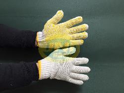 Găng tay sợi hạt nhựa loại dầy Gv002b