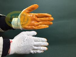 Găng tay bảo hộ bê kính sợi Poly tráng cao su Gv003b