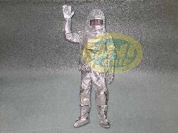 Quần áo amiang chống cháy tráng bạc dầy CH001