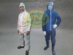 Quần áo phòng dịch màu trắng / xanh cửu long Al002