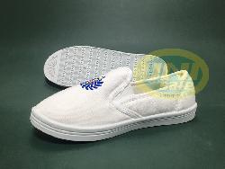 Giầy vải bảo hộ lười Asia trắng - xanh Gi006
