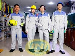 Quần áo bảo hộ vải kaki LDHQ pha mầu Qa018