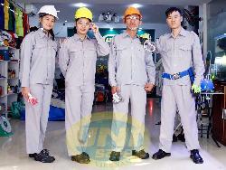 Quần áo bảo hộ cotton mầu ghi đá Qa009