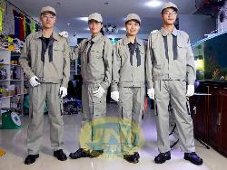 Quần áo bảo hộ lao động pha mầu kiểu Nhật Qa023