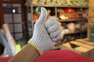 Găng tay sợi cotton trắng CT7-G01