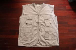 Áo gile túi hộp vải 100pt Cotton CT7-A02
