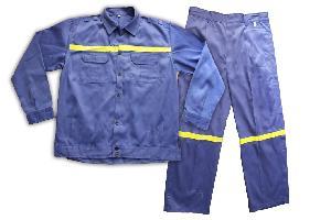 Quần áo vải kaki may phản quang CT7-QA01