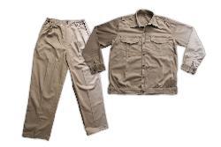 Quần áo bảo hộ vải LDHQ mầu ghi CT7-QA02