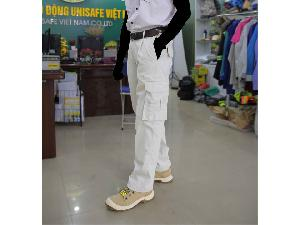Quần bảo hộ lao động kaki Pangrim Hàn Quốc túi hộp Q03