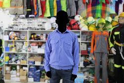 Áo bảo hộ vải thô dầy xanh hòa bình AR24-HB