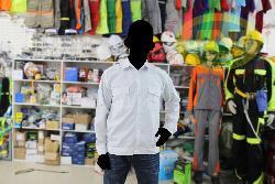 Áo bảo hộ vải thô dầy mầu trắng AR24-T